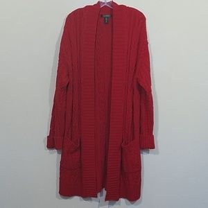 Lauren Ralph Lauren Red Womens Cardigan